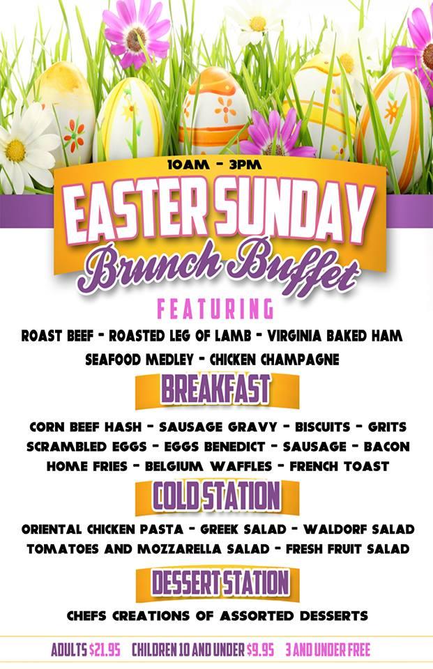 Easter brunch in chantilly backyard grill restaurant for Easter brunch restaurant menus