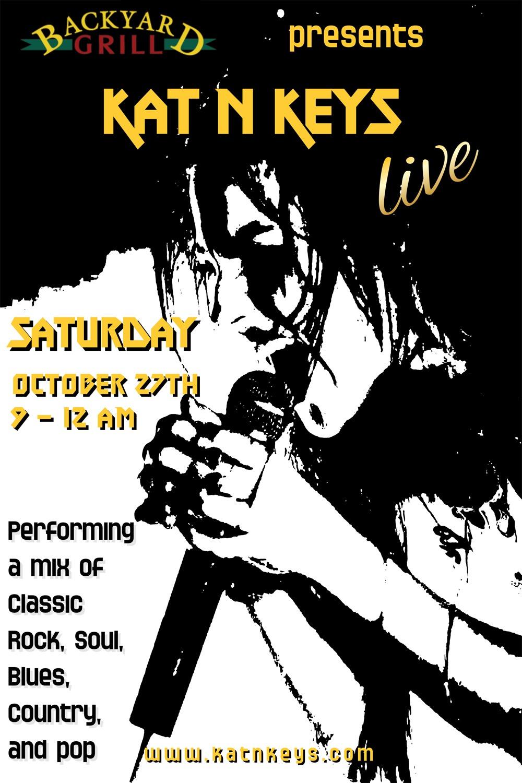 Live Music: KAT N KEYS - Backyard Grill Restaurant