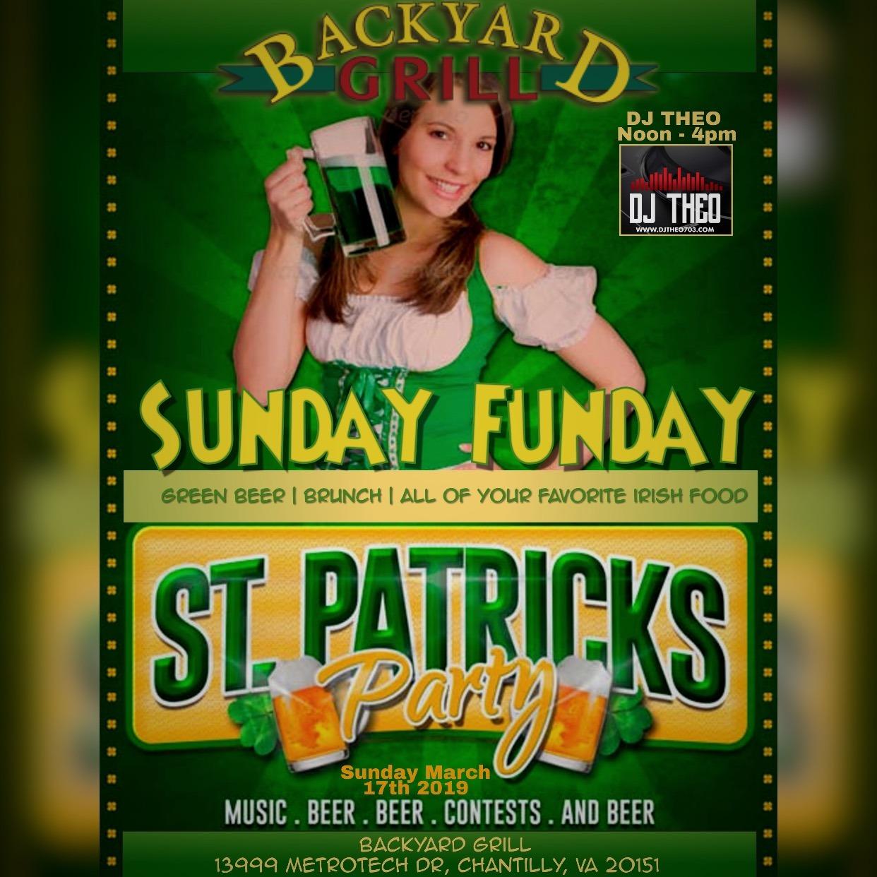 St. Patricks Sunday Funday At Backyard Grill - Backyard ...