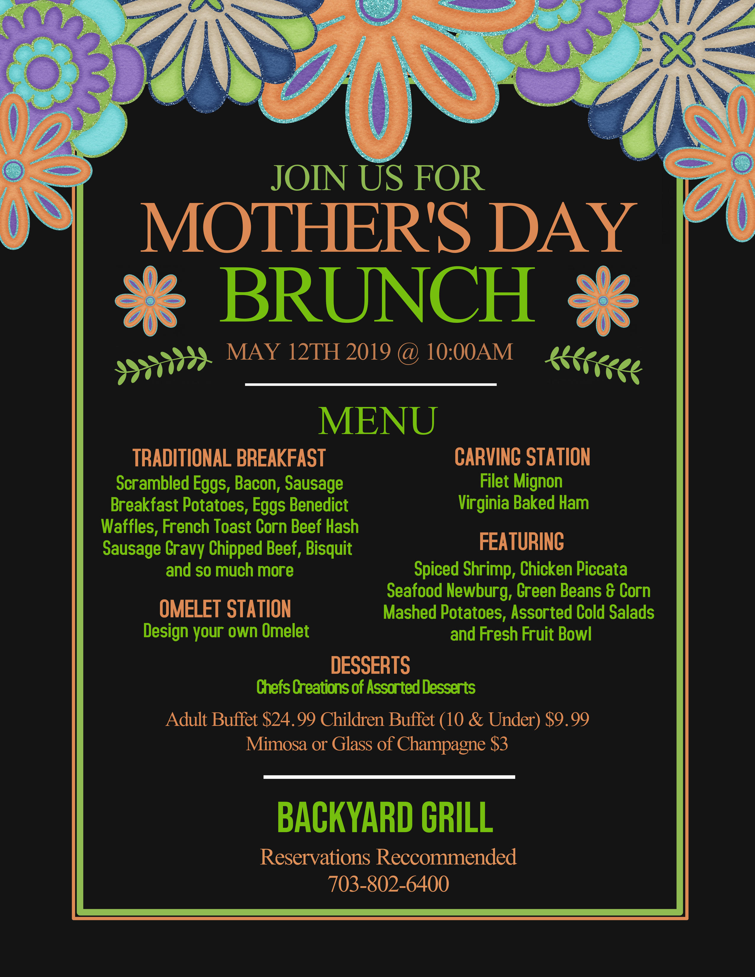 Mother's Day Brunch - Chantilly
