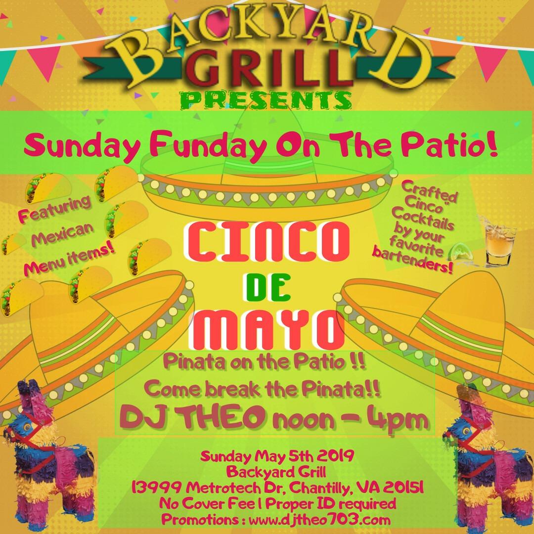 Sunday Funday At Backyard Grill | May 5th 2019 - Backyard ...
