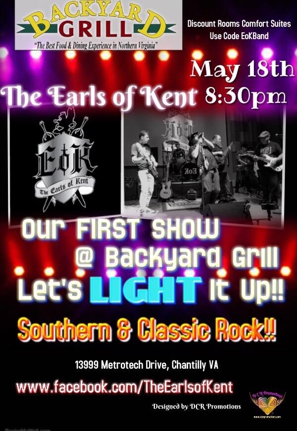 The Earls Of Kent Live Band - Backyard Grill Restaurant