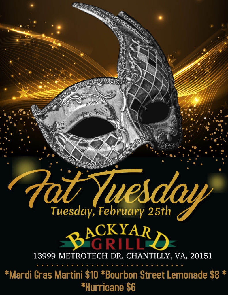 Fat Tuesday Party At Backyard Grill
