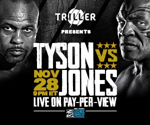 MIke Tysons vs Roy Jones Boxing Match - Watch Live At Backyard Grill