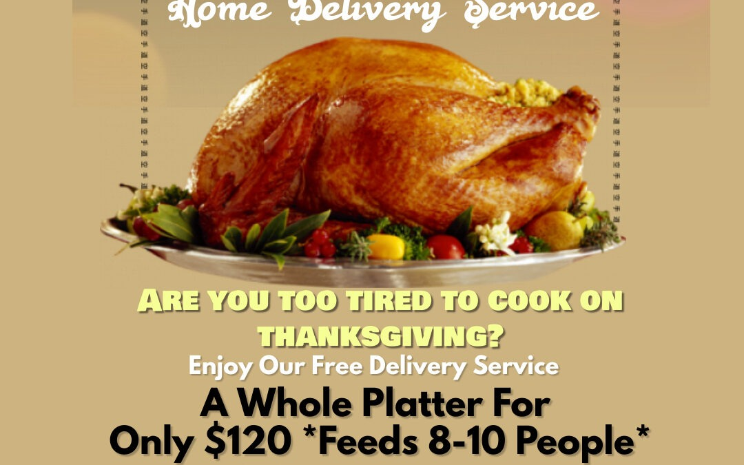 Backyard Grill Thanksgiving Home Delivery Offer